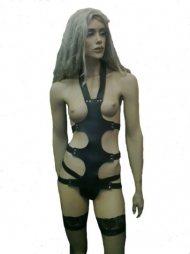 BDSM Γυναικείο φόρεμα από δέρμα, ολόσωμο