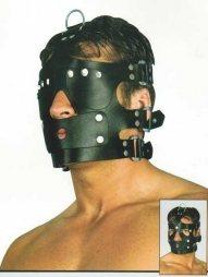 BDSM Πολυμορφική δερμάτινη μάσκα ολικής και μερικής κάλυψης
