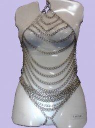 BDSM Γυναικείο κορμάκι από μεταλλικές αλυσίδες
