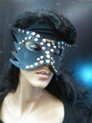 BDSM Δερμάτινη μάσκα με ανοιχτά τα μάτια και τις μύτες