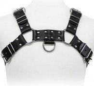 BDSM Ανδρικό αξεσουάρ για το στήθος με τρουκς και κρίκους