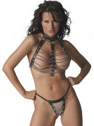 BDSM Γυναικείο σύνολο που περιλαμβάνει ένα τοπάκι και ένα στρινγ