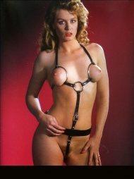 BDSM Δερμάτινο κορμάκι με κρίκους και με λουριά