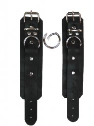 BDSM Δερμάτινες χειροπέδες χεριών/ποδιών
