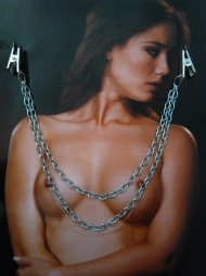 BDSM Διακόσμηση Στήθους  -  Nipples με 2 αλυσίδες