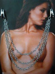 BDSM Διακόσμηση στήθους  -  Nipples με 3 αλυσίδες