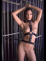BDSM Δερμάτινο κορμάκι S/L