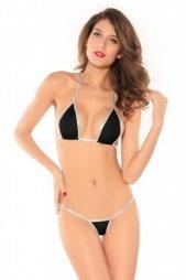 Black-Silver Bikini Set