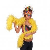 YELLOW FEATHER BOA 1.83 CM