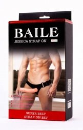 BAILE STRAP-ON WITH HOLLOW DILDO JESSICA 18 CM