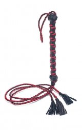 THREE TAIL TASSEL FLOGGER POLISHED LEATHER 30""