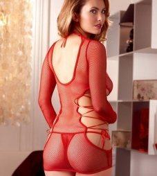 Red Long-sleeve Dress