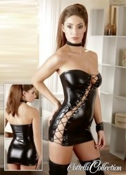 Skin Tight Wet Look Dress