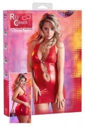 Shiny Red Dress with Rhinestones