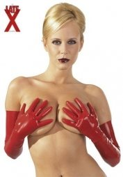 Red Long Latex Gloves