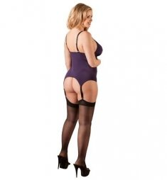 Plus Size Purple Basque Set
