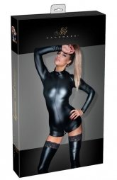 Noir Skin Tight Body with Zip Opening