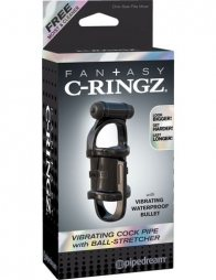 Fantasy C-Ringz Vibrating Cock Pipe With Ball-Stretcher