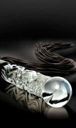 Μαστίγιο Icicles No 38 hand blown glass Cat-O-Nine Tails whip