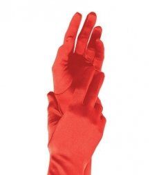 Leg Avenue Extra Long Red Satin Gloves