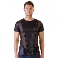 Wetlook Shirt With Translucent Bet