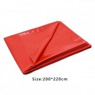 Μεγάλο διπλό κόκκινο προστατευτικό σεντόνι κάλυμμα 2 Χ 2,2 M