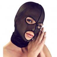 Μαύρη Ημιδιάφανη Σεξ Φετίχ Μάσκα με τρύπες