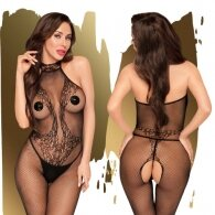 Penthouse First Lady Halter Bodystocking Black