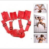 Naughty Toys Bed Restraint Set Red