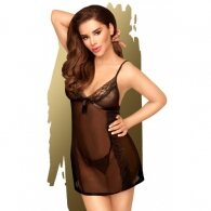 Penthouse Casual Seduction Babydoll with String Black
