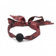 Naughty Toys Red Satin Ribbon Tie Ball Gag