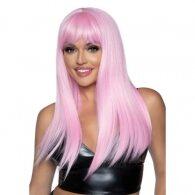 Leg Avenue Long straight bang wig Pink