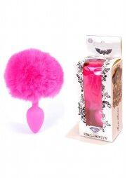 Jewellery Silicon PLUG - Bunny Tail - Pink 6,5 εκ
