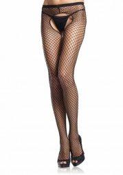 Crotchless Pantyhose - BLACK - O/S - HOSIERY