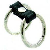 Bondage Dual Ring Metal Cock Ring