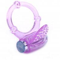 Purple Color Tongue Vibrating Cock Ring