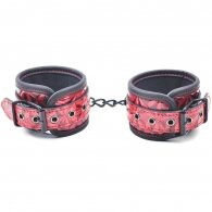Red Color Embossed Handcuffs