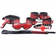 Red Color Embossed 6 Pcs SM Kit