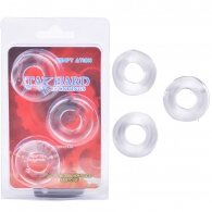 Clear Color  Triple Donuts Cockring Kit