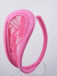 Ροζ γυναικείο c-string με δαντέλα