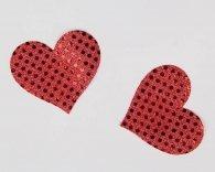 Κόκκινο-μαύρο κάλυμμα στήθος με στρας Nipple Cover