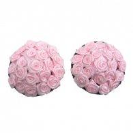 Στρόγγυλο-Ροζ κάλυμμα στήθους με λουλούδια Nipple Cover