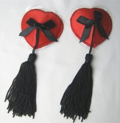 Red Nipple Cover with black tassel