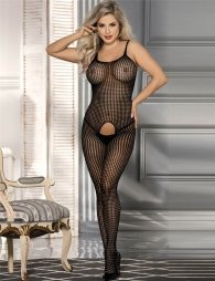 Bodystocking with fence and opening crotch