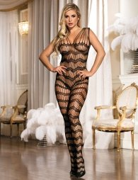 Bodystocking with a special design and open crotch