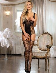 Net bodystocking with openings