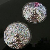 Nipple cover with colored sequins