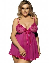 Open Back Floral Bra Plus Size Babydoll