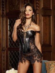 Leather-Venice Lace Corset