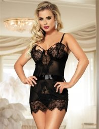 Open Cup Cutout Chemise